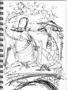 Pangolin and Armadillo sketch