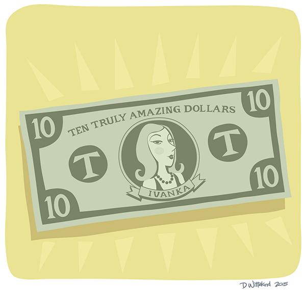 Ivanka Trump on Ten Dollar Bill