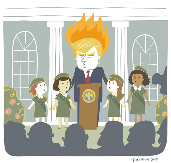 President Trump with Girl Scouts