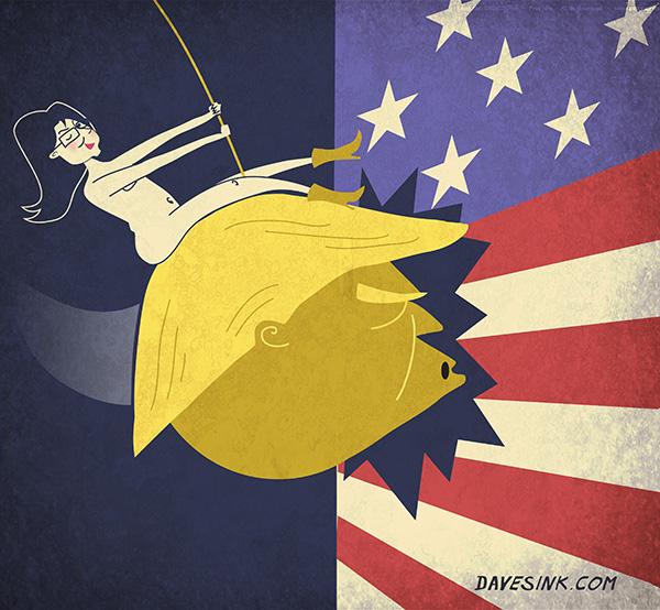 """Sarah Palin's Trump """"Golden Wrecking Ball"""""""