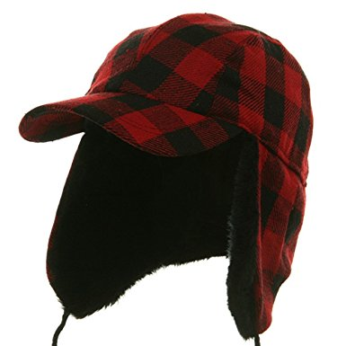 Buffalo Plaid Hunter Hat -
