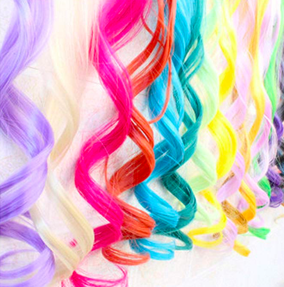 Blue Hair Extensions -