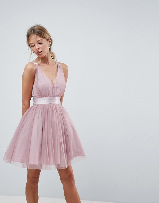 1. Pink Tulle Skater Dress -