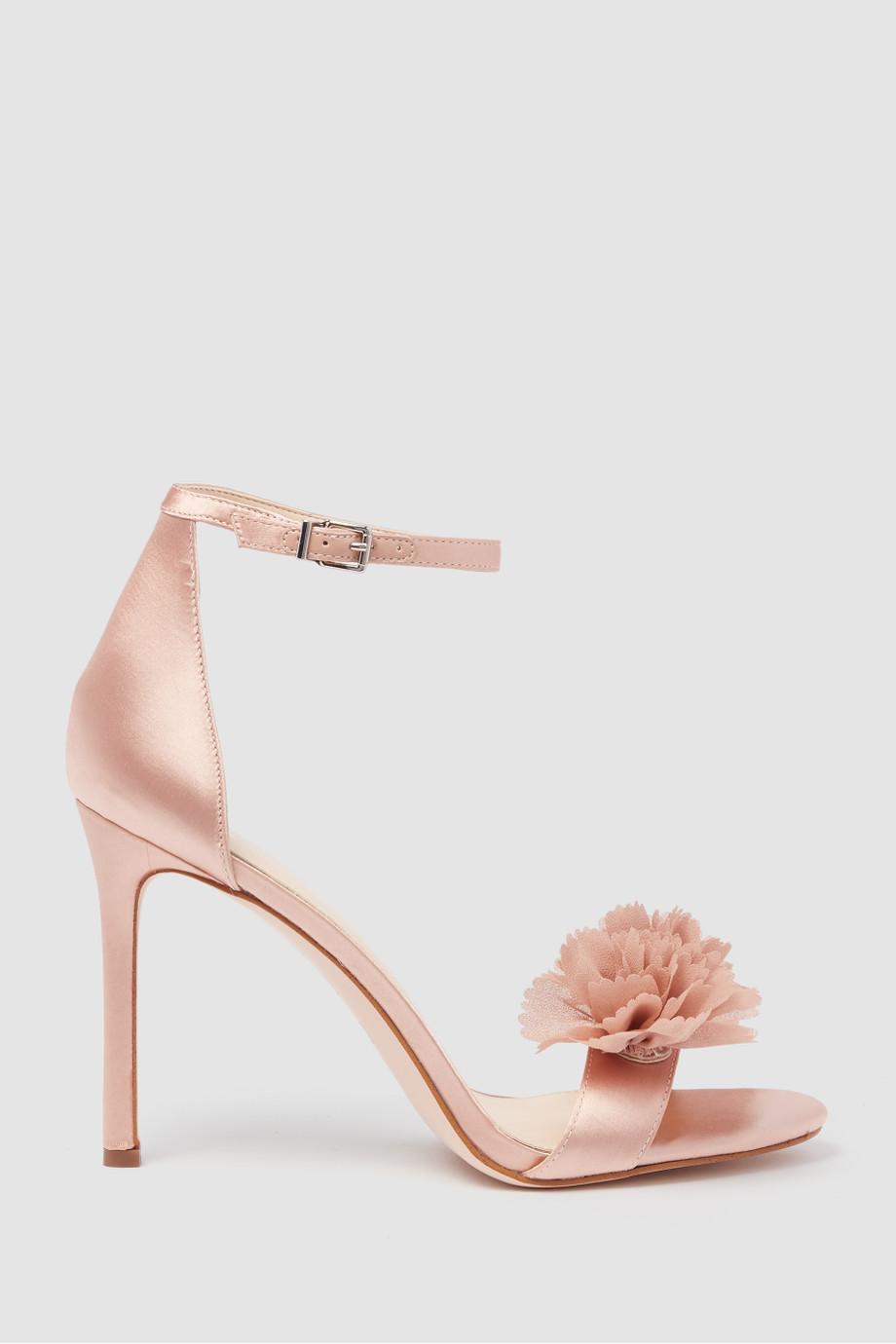 2.Jeena Flower Pom-Pom Sandals -