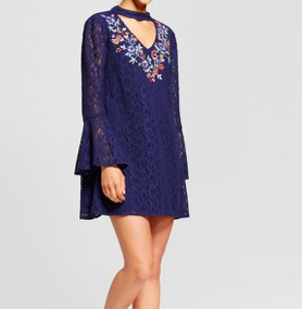 1. Blue, Boho-Chic Dress -