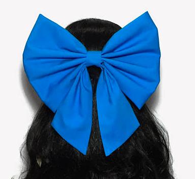 3. Oversized Hair Bow, Blue -
