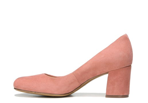 2. Pink Suede Pumps -
