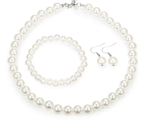 3. Pearl Necklace and Bracelet -