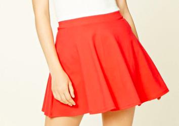 2. Coral Skater Skirt -
