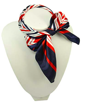 3. Red, White, and Blue Silk Scarf -