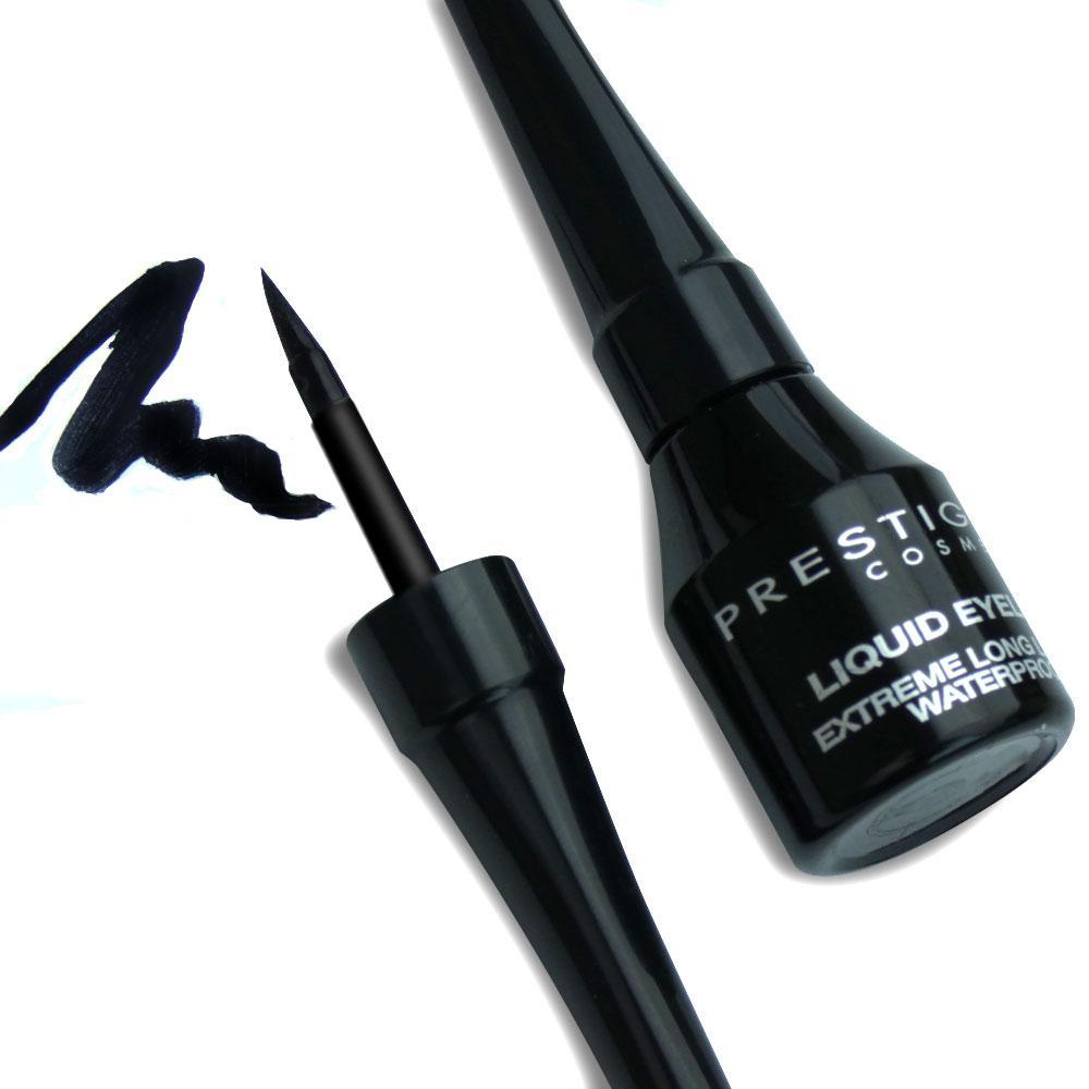 Black eyeliner, the more the better -