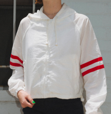 White Windbreaker -