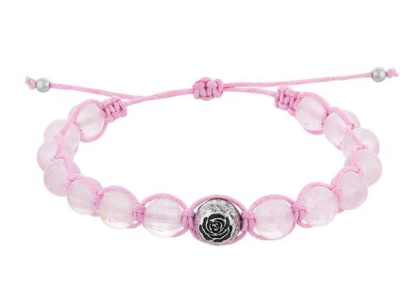 Rose Quartz Stone Bracelet -