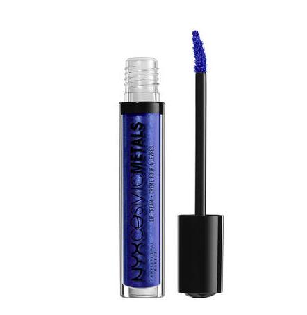 Blue metallic lip gloss -