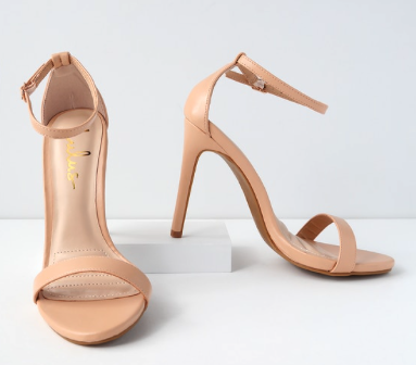 Ankle Strap Heels - A touch of heel brings height and elongation to the ensemble.