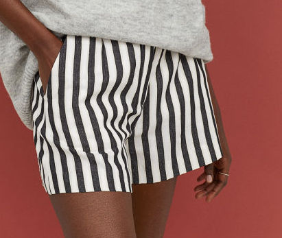 Striped Shorts - Beach chic with an unexpected twist.