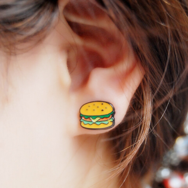 Hamburger Earrings - Hamburgers have NEVER looked this classy!