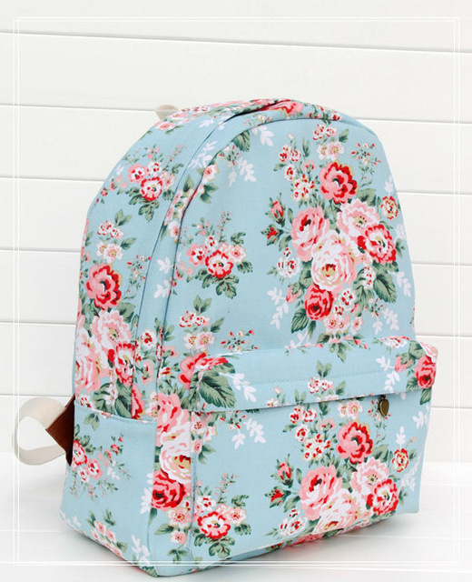 Flower-Patterned Backpack - At times you may have a chip on your shoulder, but deep down you have a flowery disposition. This backpack can be a reminder to stay true to your kinder, softer side.