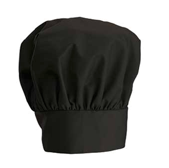 Black Chef's Hat - If you're the pepper, a black chef's hat will be your shaker top.