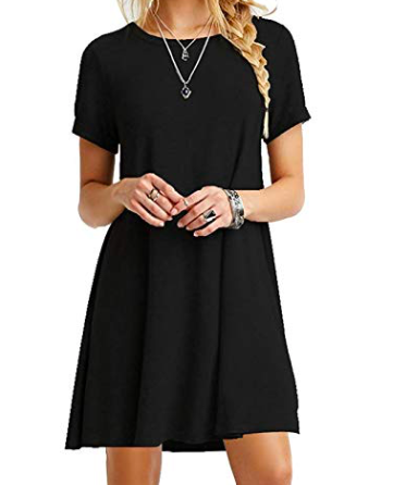 Black Dress - This black dress is a simple staple that can double as non-goth attire. Highly versatile.