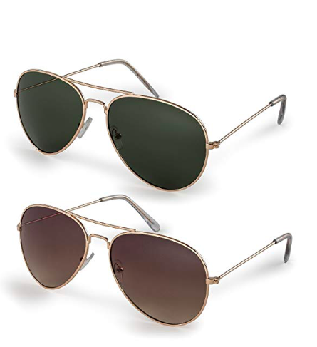 Aviator Sunglasses - …And Aviator sunglasses to always keep it cool.