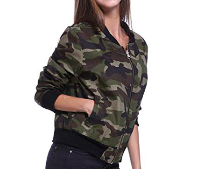 Camouflage Jacket - Finish off the look with Sky's favorite camouflage jacket!