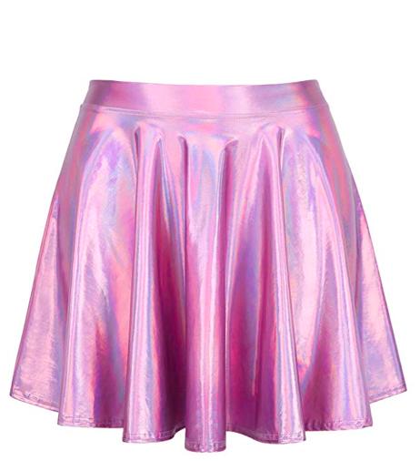 Pink Metallic Skirt - Pink + Metallic = Cute Alien Girl vibes.