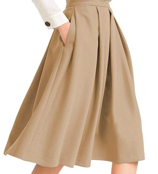 Beige midi skirt - Easy, breezy, beautiful!