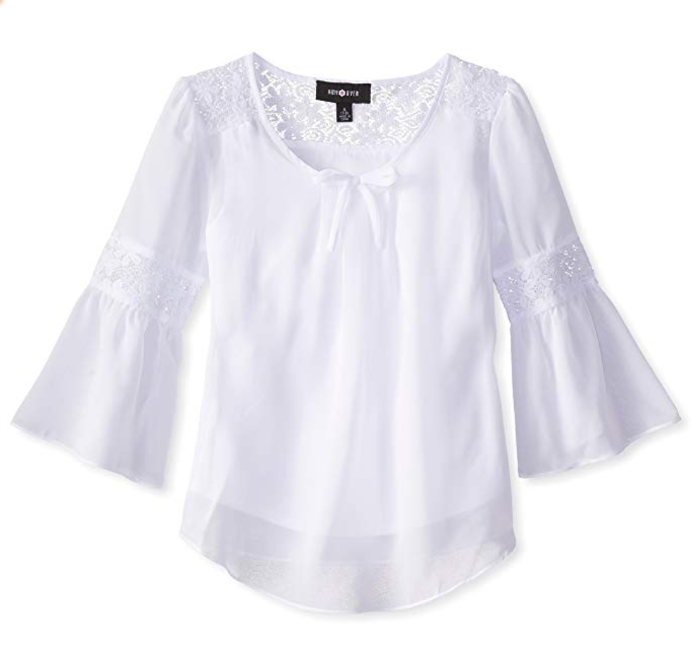 Peasant blouse - Substitute Rhyme's Western fringe shirt with a soft white blouse for a more comfortable, more versatile approach to the look.