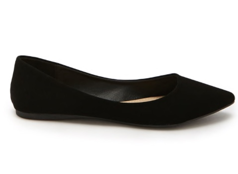 Black, pointed flats -