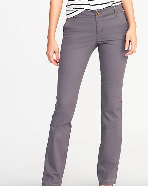 Gray khaki pants -