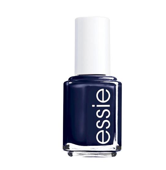 Navy blue nail polish -