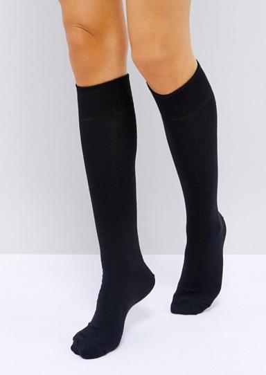 Black knee socks -