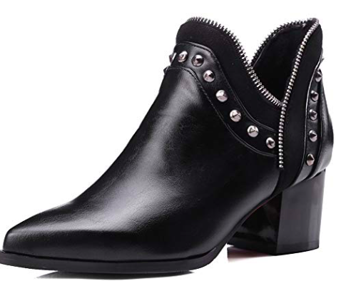Black, studded boots -