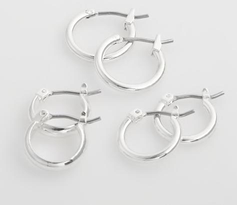 Silver hoop earrings -