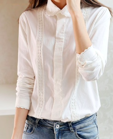 White button-up blouse -
