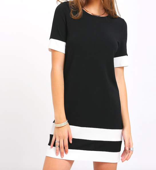 Black shift dress -