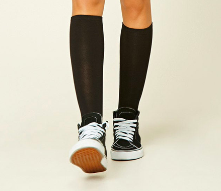 Black knee socks -