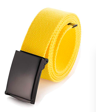 Yellow belt - This week's dupe is my belt, made by the company Off-White. Off-White is an Italian streetwear and luxury fashion brand founded in 2012 by American designer Virgil Abloh in Milan, Italy. Off-White designs clothing for both men and women and has 24 stores around the world. If you're into high end streetwear worn by some of your favorite celebrities, you can still have the look and keep your college savings! If you're in a creative mood, you can DIY this belt with a black fabric pen. You can find my latest dupe on Amazon.P.S. The belt I'm wearing in the photo is my older brother's. Promise not to tell him??