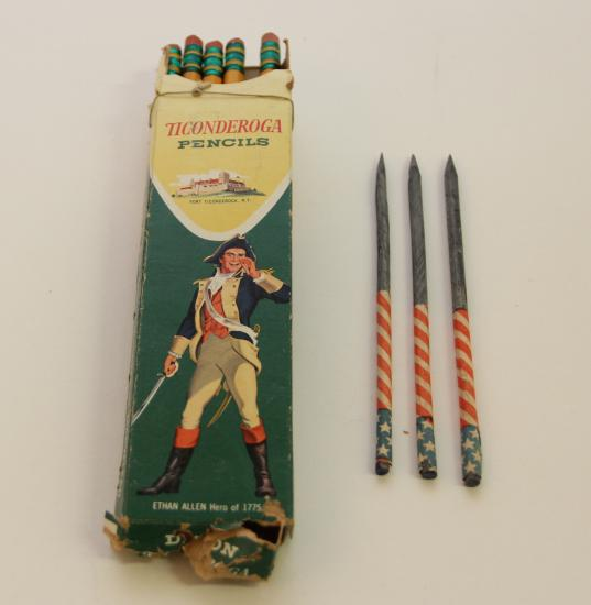 Ticonderoga Pencils - In a post-war world, even pencils were patriotic!