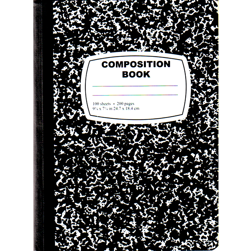 Composition Notebook - Despite the drama going on all around her, Zoe takes detailed notes in every class.