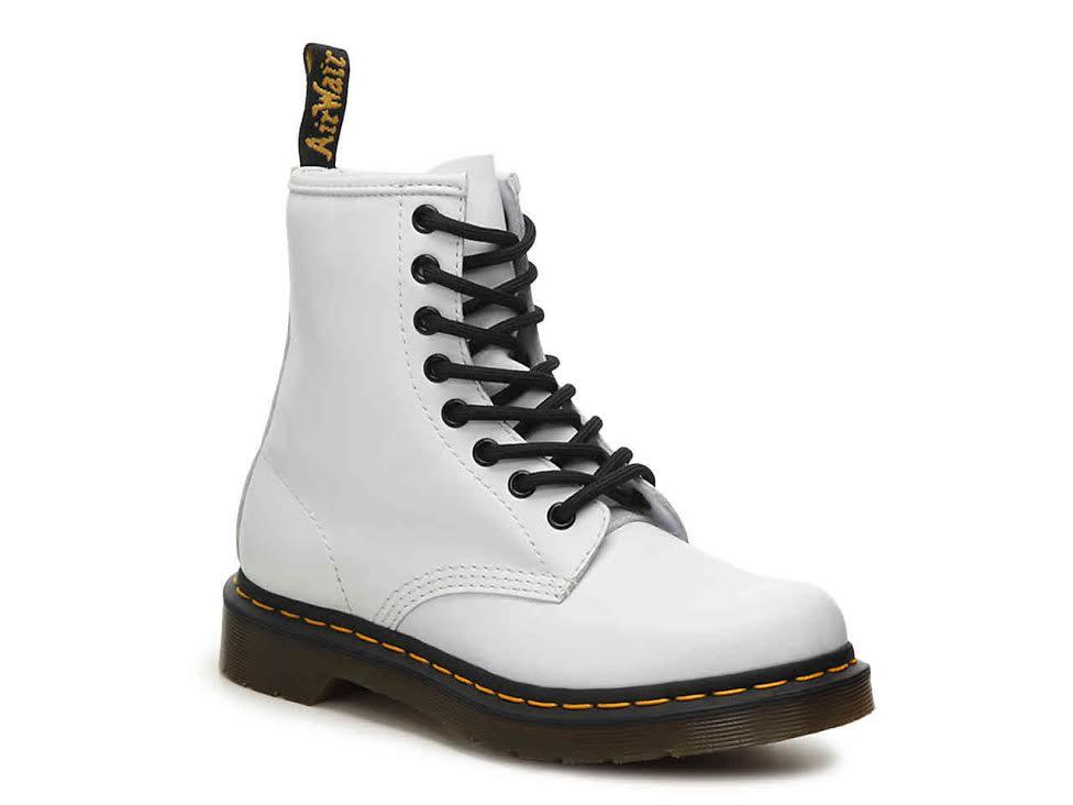 White DR. Marten combat boots -
