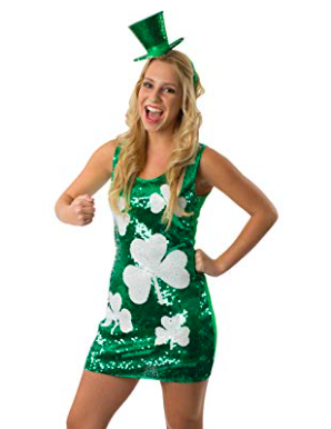Go all out - If you love St. Patrick's Day and want to represent your Irish roots, this is the choice for you. Sparkling sequins and four leaf clovers—let everyone see your pride!