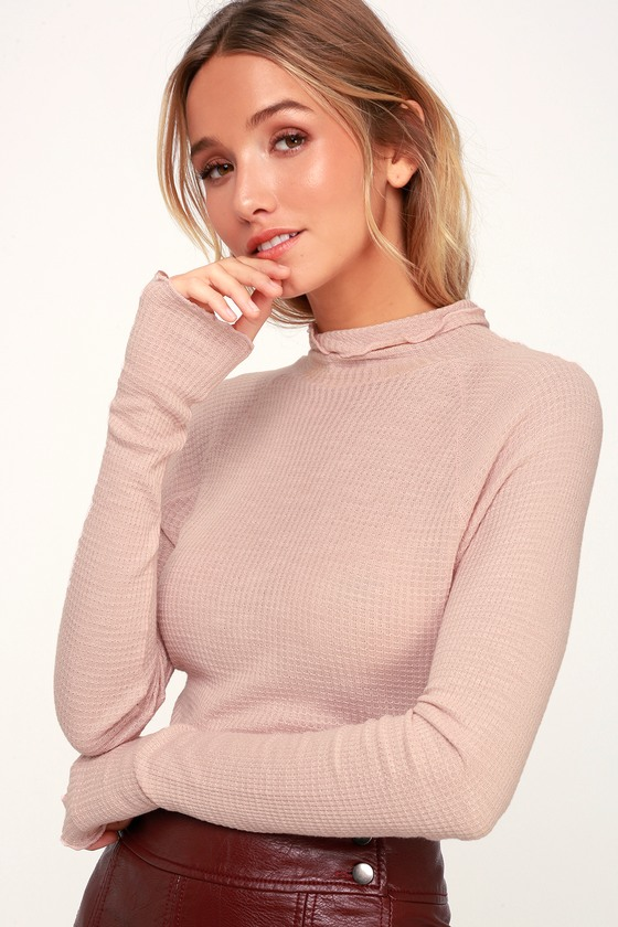 Pink turtle neck -
