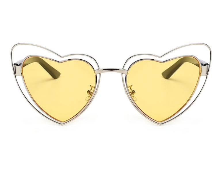 Yellow heart sunglasses -