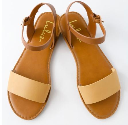 Beige sandals -