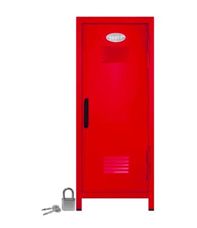 Red locker (mini) - Just like the Attaway High halls…but mini.