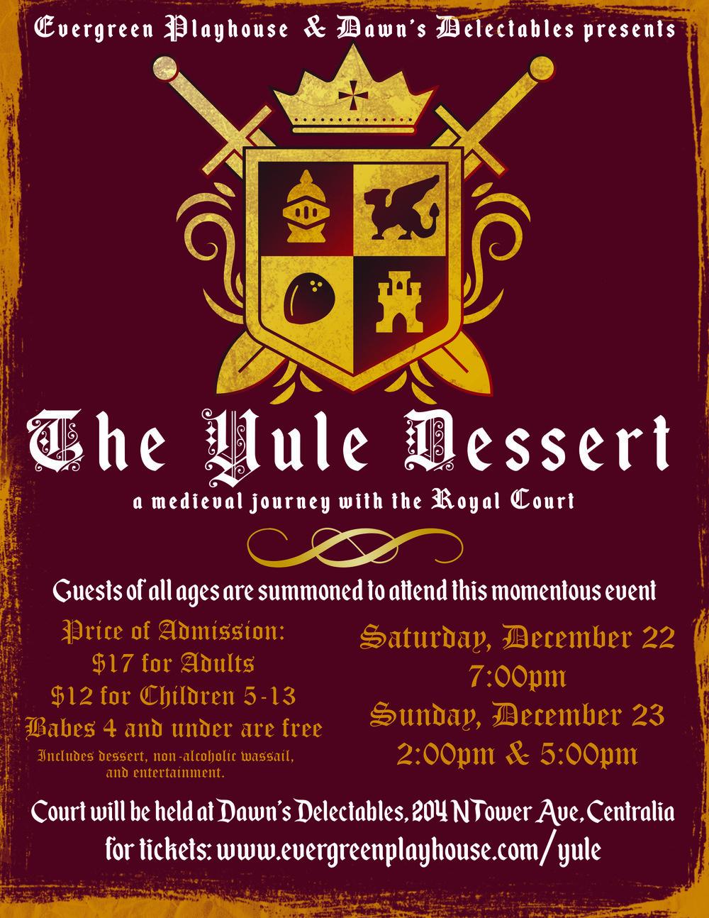 The Yule Dessert; December 22 & 23 2018