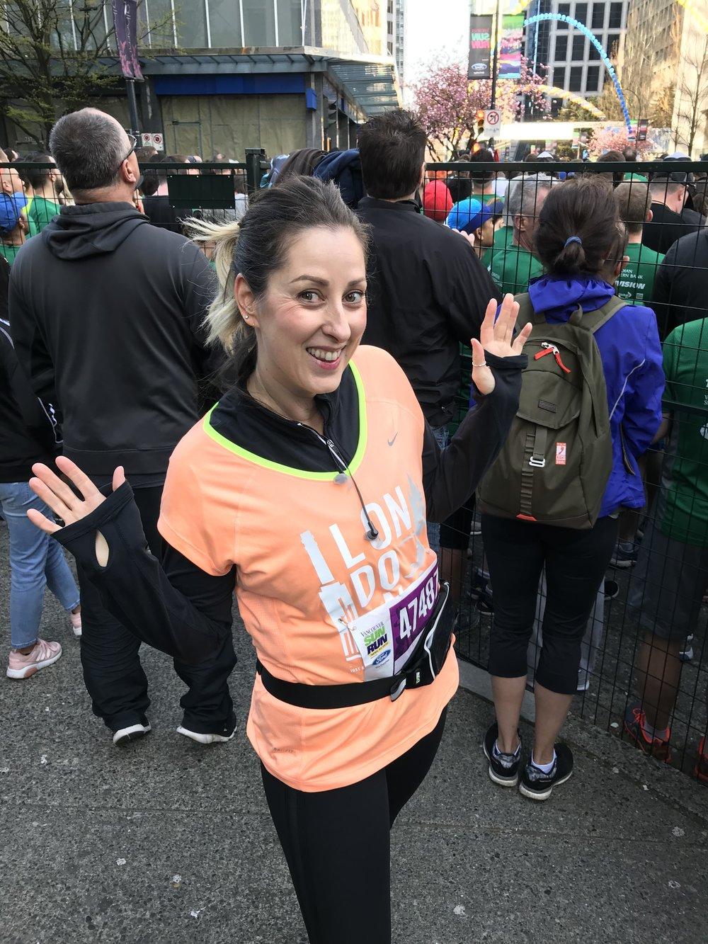 Me on my 46th birthday running the Vancouver Sun Run 10K