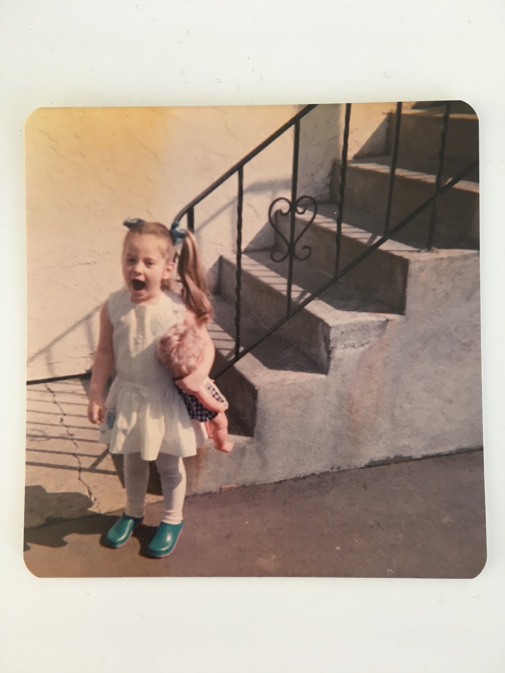 As you can see even when I was a little girl I was shouting out about wearing what you want! Even pigtails with matching blue ribbons and blue clogs! Because why not you?! lol!
